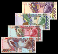 Set of 4 PCS, SAO tome and principe 5000,1000,20000,50000 Dobras 1996-2013 UNC