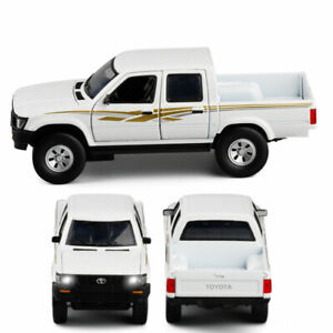 Toyota Hilux Pickup Truck 1:32 Model Car Diecast Toy Vehicle Sound Light White