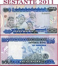 NIGERIA  -  50 NAIRA nd 1991 - P 27a  - Scarce sign - Firma rara  -  FDS / UNC