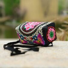 New Fashionable National Embroidery Hand And Shoulder Bag Floral Color Messenger