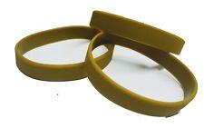 50 Khaki GREEN Silicone Wristbands Rubber Reusable Events Charity Fashion PLAIN