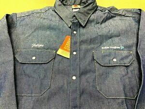 NEW Baker Hughes Company RED KAP DENIM LONG SLEEVE SHIRT WORKER MEN XL