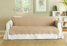 NEW IN PACKAGE Sure fit Vintage Washed Chevron loveseat, Furniture Cover, TAN