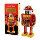 "FIRE CAPTAIN ROBOT 5"" Saint St. John Wind Up Tin Toy Collectible Retro Marxu NEW"