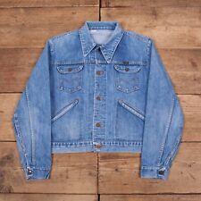 """Mens Vintage Blue Bell Maverick 70s Selvedge Denim Jacket Large 44"""" R13381"""