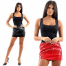 Ladies Womens PVC Vinyl Wet Look Mini Pencil Bodycon Shiny Skirt Size 8-14