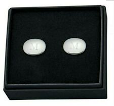 Personalized Oval Shaped Cufflinks Engraved Cuff Links Wedding Party Groom Best