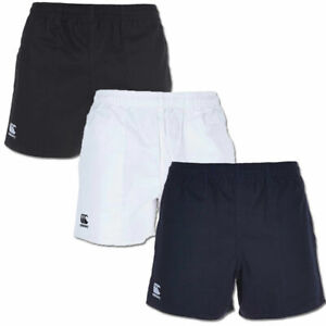 CANTERBURY MEN'S PROFESSIONAL COTTON RUGBY SHORTS WHITE NAVY BLACK NEW RRP £17