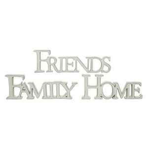 Large Cream Wood FRIENDS or HOME Standing Sign Plaque