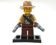 LEGO Collectible Series 1 Cowboy FIGURE, 8683, minifigure, stand, guns, minifig