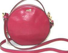 Brahmin Lane Fuschia Topsail Smooth Leather Round Canteen Crossbody Bag NWT$275