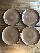 4 Russel Wright Ripe Apricot Dinner Plates Mid-Century Modernist