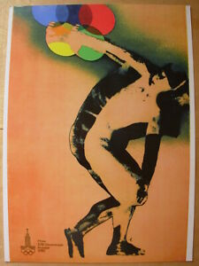 Sport POSTER Olympiad-1980 MOSOW by Orvanova Soviet Olympic game