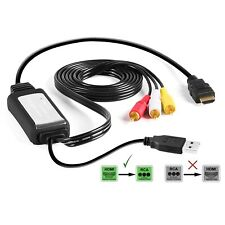USED eXuby HDMI to RCA Cable Converts Digital HDMI Signal to Analog RCA/AV