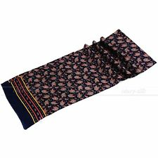 Gifts Mens 100% Silk Long Scarf/Cravat Scarives Double Layer  Blue