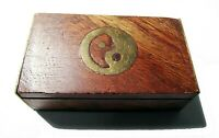 Caja de Madera con simbologia Taoista (antiguo y usado)