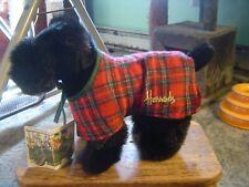 Harrods Plush Scottish Terrier Scottie dog w/tag plaid coat London Knightsbridge