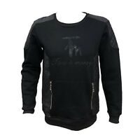 Men Time is Money Designer Embroidery  Pullover Sweatshirt Sweater Adult Outwear