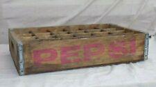 Pepsi Cola Wood Crate Case w/ Dividers 1970's Vintage - NICE!!