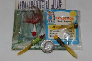 4 Vtg Wet Flies Fly Rod Jigs 2 NOS YAKIMA ROOSTER JIG & LITTLE JOE Bumble Bee