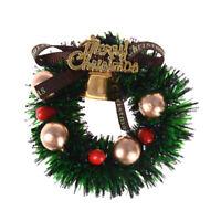 1:12 Doll House Christmas Garland Decoration Bow Bells DIY Mini Home DecorGifJM