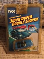 TYCO #7131 SUPER DUPER DOUBLE LOOPER CORVETTE ZR1 (BLUE) HO SLOT CAR - NOS