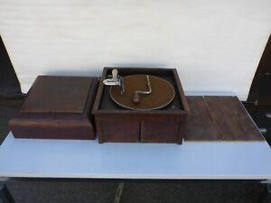 Reste von altes Grammophon Biophon Musikwerke Karl Eisfeld Fürth für Bastler