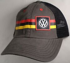 Hat Cap Licensed Volkswagen VW Grey German Patch Stripe CF