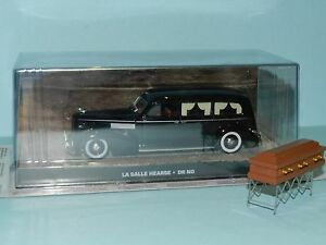 MODIFIED Altaya 1/43 scale La Salle Hearse with church truck & casket boxed boxd