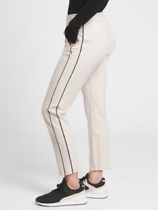 ATHLETA Stellar Novelty Trouser 0P (XSP XS PETITE ) Beige City Pants Work Travel
