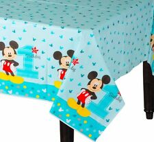 "Disney Mickey Mouse 1st Birthday Plastic Table Cover 54"" x 96"" Party Supplies"