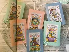 Joan Elliott Cute Animals New Baby Birth Cards Cross Stitch Chart