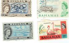 BAHAMAS STAMPS Lot of 4:  Transportation, Yachts, Olympics Overprint, Flamingos
