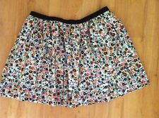 Ladies Floral SPORTSGIRL Skirt Size 10 Full Mini Cotton