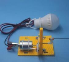 Mini Hand Crank DC Generator Science Puzzle Technology DIY Toy Part Kits Set
