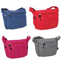 Damen Schultertasche Umhängetasche Damentasche Überschlag Stoff Bag Nylon klein