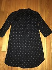Abbey Dawn Avril Lavigne Black Star Collared Studded Button Shirt Blouse Tunic L