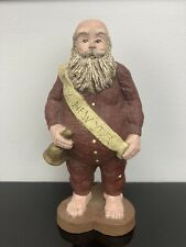 Sarah's Attic Limited Edition Figurine New Year Santa January 1988