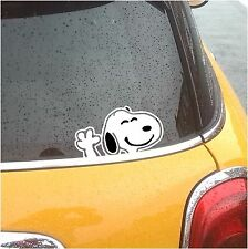 SNOOPY WAVING CHARLIE VINYL CAR WINDOW DECAL STICKER LAPTOP PHONE PANEL BLACK