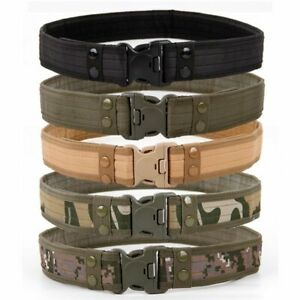 Combat Belts Army Style Quick Release Tactical Canvas Waistband Outdoor Hunting
