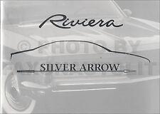 1999 Riviera Silver Arrow Sales Brochure with 1963-1999 Buick Riviera History