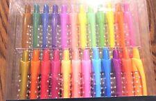 Gel Pens, 24 pack, Retractable, Neon, Glitter, Pastel, Colors, clickable