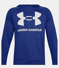 Under Armour Men's Rival Fleece Logo Hoodie 1345628 Cotton Blend BlueSize XL NWT