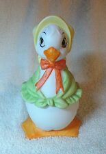 Easter Duck, Trinket Box, Lefton China, Hand Painted, Yellow Hat, Green Scarf