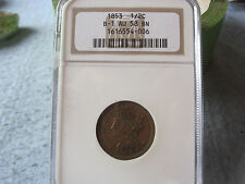 1853 Braided Hair Half Cent NGC graded AU58 Choice AU Cheapest on Ebay! BV$225