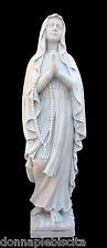 Statua Madonna Beata Maria Vergine Marmo Bianco Arte Sacra Arte Scultura Virgin