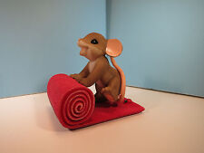 Charming Tails Rolling Out The Red Carpet For You Mouse Figurine