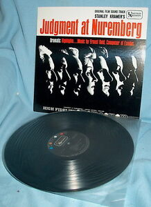 LP  Soundtrack JUDGMENT AT NUREMBERG Ernest Gold JAPANESE PRESSING
