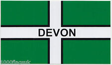 Devon County Flag Window Sticker For INSIDE of  Car  * Made and Sold in Devon *