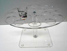 Shot glass serving stand holds 18 glasses bar restaurant beverage supplies equip